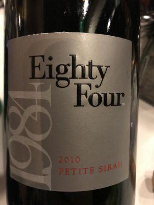 2010 Petite Sirah by Eighty Four Wines (@Galpao, Napa, CA)