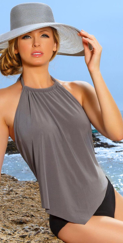 Magicsuit 2014 Nicole Stone Bridge Underwire Tankini with Magicsuit Solid Tap Pant Swim Bottom