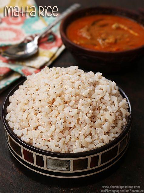 kerala matta rice,how to cook kerala matta rice.step by step pictures to cook kerala matta rice.red rice or matta rice is highly nutritious.