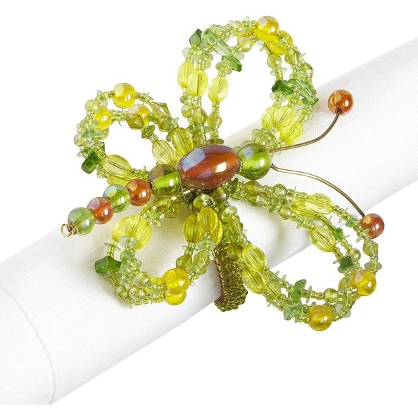 Pier One Beaded Butterfly Napkin Ring ($3.96) ❤ liked on Polyvore