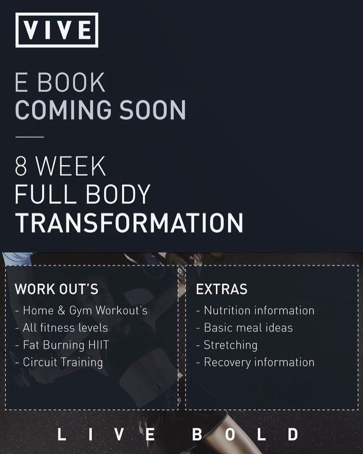 Exciting News! ---- Soon we will be releasing our very first body transformation ebook! - This ebook will be perfect for all fitness levels. - 8 weeks of workouts planned for you - Workouts include a variety of ultimate fat burning high intensity interval training circuit style training and we even cater for those who can't get to the gym! - Basic nutritional recommendations - Recovery tips and tricks to ensure you're making the most of your rest days - Simple healthy meal ideas  Release…