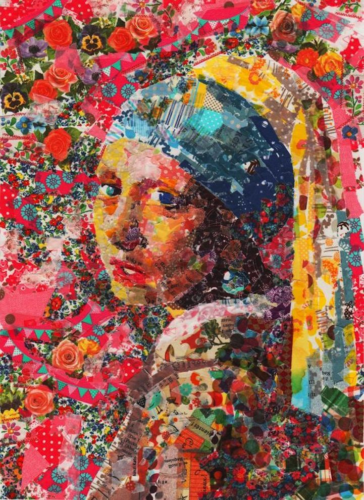 Famous Paintings Recreated with Layers of Masking Tape - My Modern Met