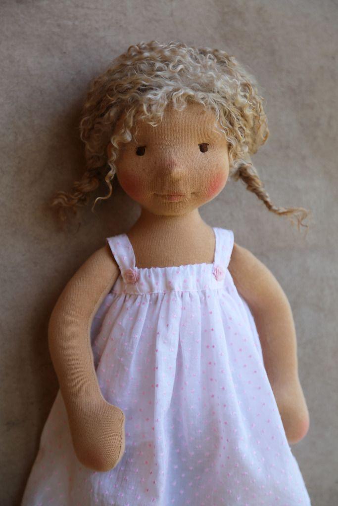May-Elise - Natural Fiber Art Doll by Petit Gosset