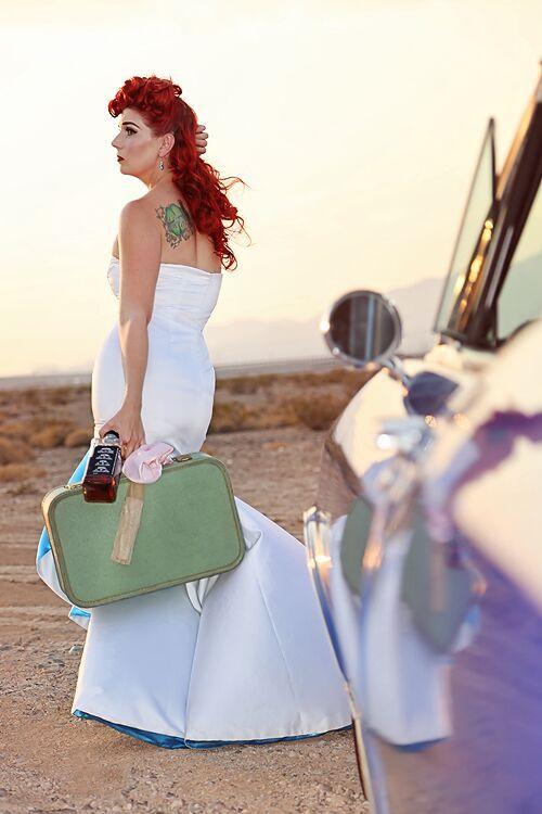 Runaway Bride Jess W @ticciclothes rockabilly bride Rockabillyweddingdress wedding dresses pinup bride