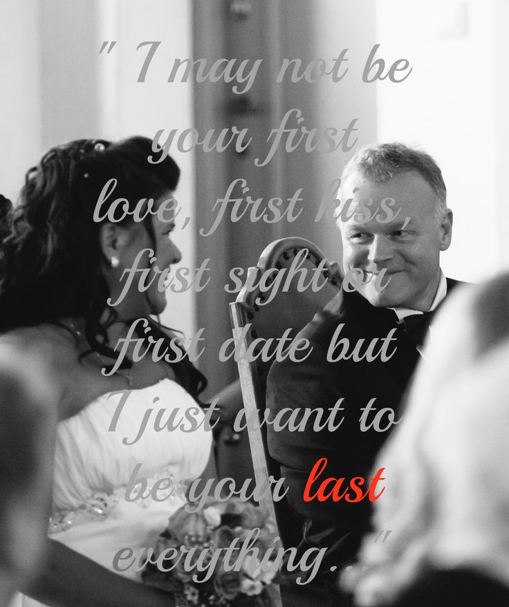 I wrote a quote that I found in here, on my weddingphoto...