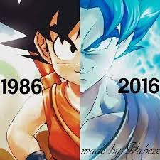 Goku 1986 and Goku 2016 ^^ Before and Now