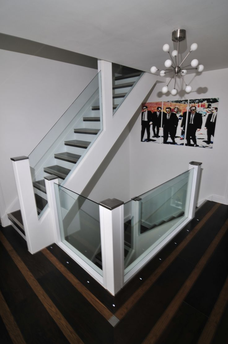 Best Bespoke Glass Staircase With Inlaid Oak Stainless Steel 400 x 300