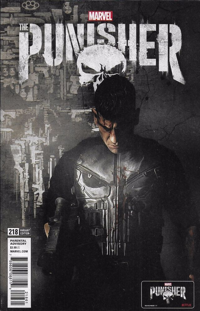 Marvel The Punisher comic issue 218 Limited variant