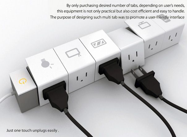 Quite cool, although I have a much cooler than this.  Multi-Tab Power Strip by Soon Mo Kang