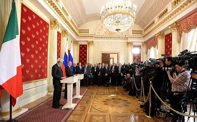 Press statements following ameeting with President ofItaly Sergio Mattarella