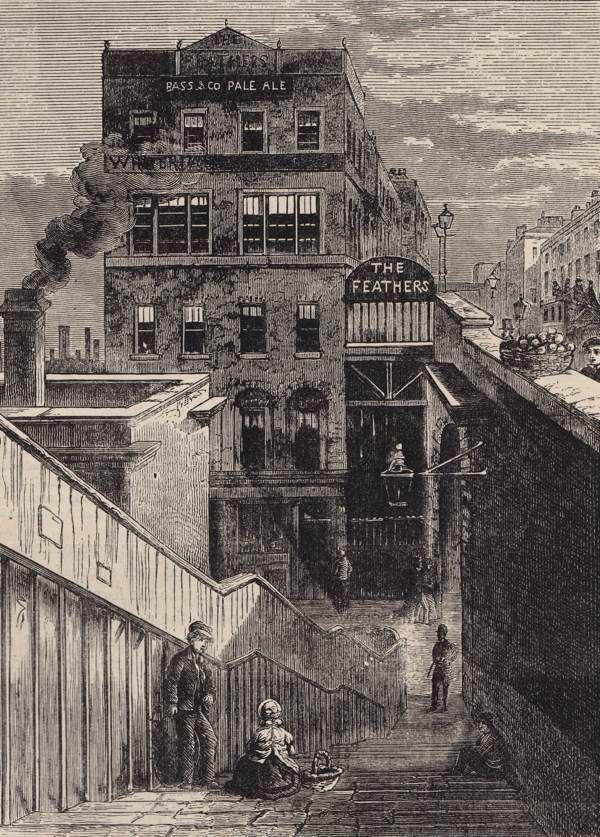 Waterloo Bridge Rd, 19th century London, from  Walter Thornbury's London Old & New