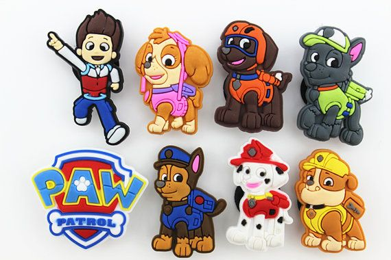 Kids Toys Action Figure: 8pcs Puppy Power Paw Patrolshoe Charms Fits Jibbitz By