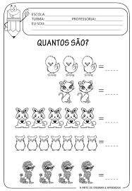 Resultado de imagem para atividade raciocinio logico matematico educacao infantil