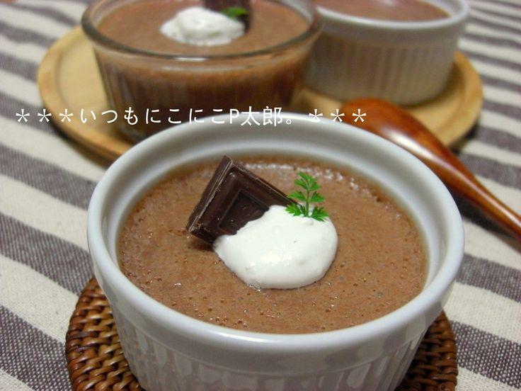 材料3つ☆簡単マシュマロチョコムース♪  溶かして混ぜるだけ♪ とっても簡単なチョコムースです(*^▽^*) つくレポ100人、感謝です~☆