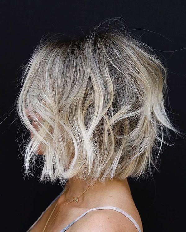 Holen Sie sich einen sauberen und süßen Look mit kurzen unordentlichen Frisuren #frisuren