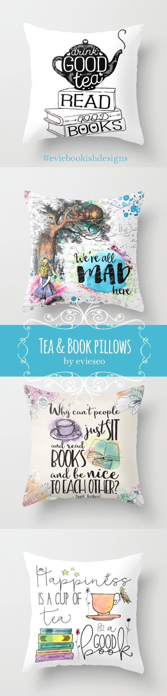 The most beautiful tea and book lover designs you've ever seen. #tea