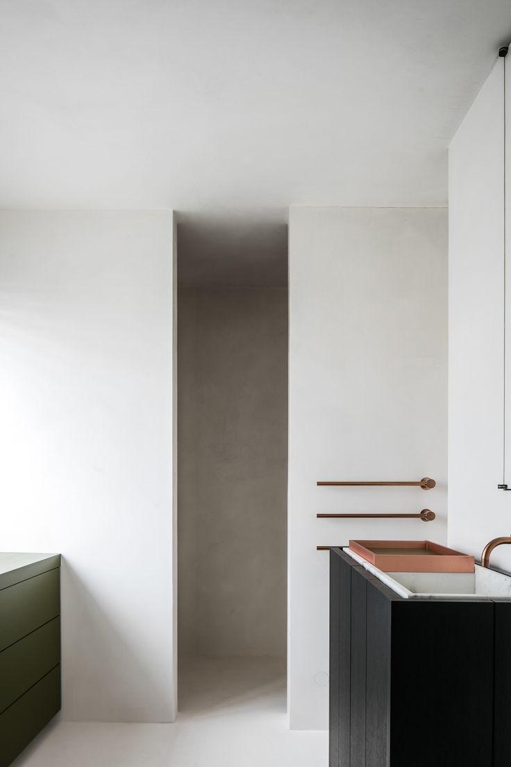 Bathroom - Residence DB in Ghent Belgium by Frederic Kielemoes
