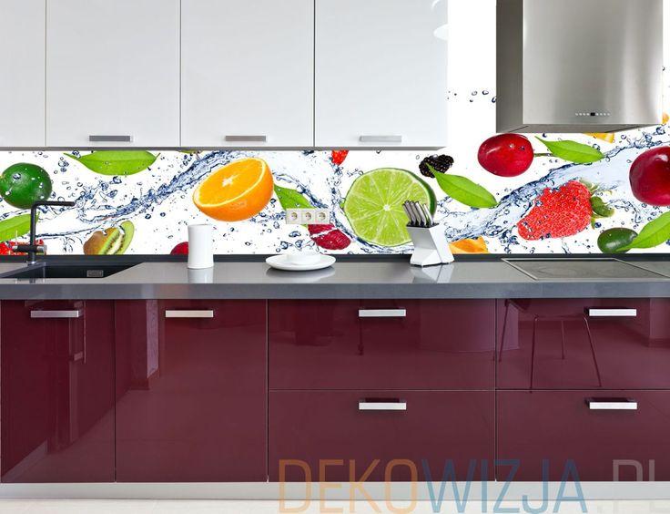 Fototapeta do kuchni ze świeżymi owocami.