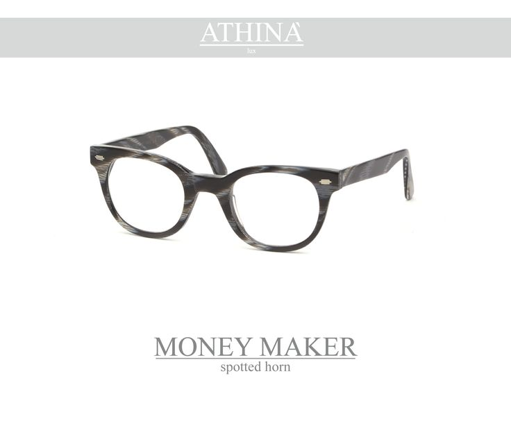 Mod. MM0909V Available in texture spotted-horn, zebra and white ice, provided with perfectly matching shades. Vintage frame per excellence, resistant, unique of its kind, completely made in acetate of cellulose.