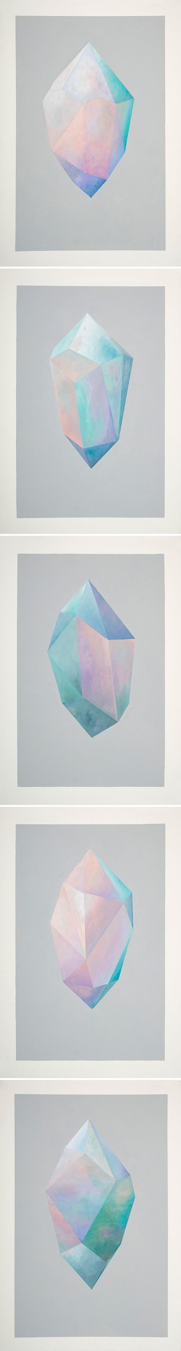 gemstone paintings by rebecca chaperon