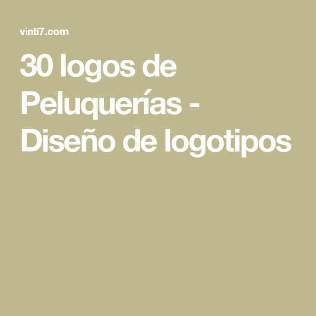 30 logos de Peluquerías - Diseño de logotipos
