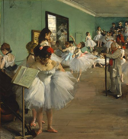 The Dance Class, 1874. Edgar Degas (French, 1834-1917). Oil on canvas. Metropolitan Museum of Art, New York.
