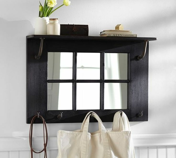 idée déco pour entrée de maison avec petit meuble de rangement avec miroir