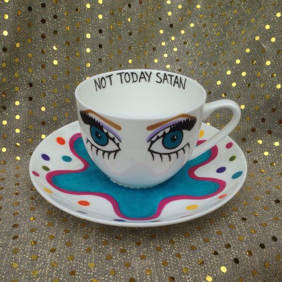 Pre-order: Bianca del Rio Not Today Satan tea by RebeccaJHiggins