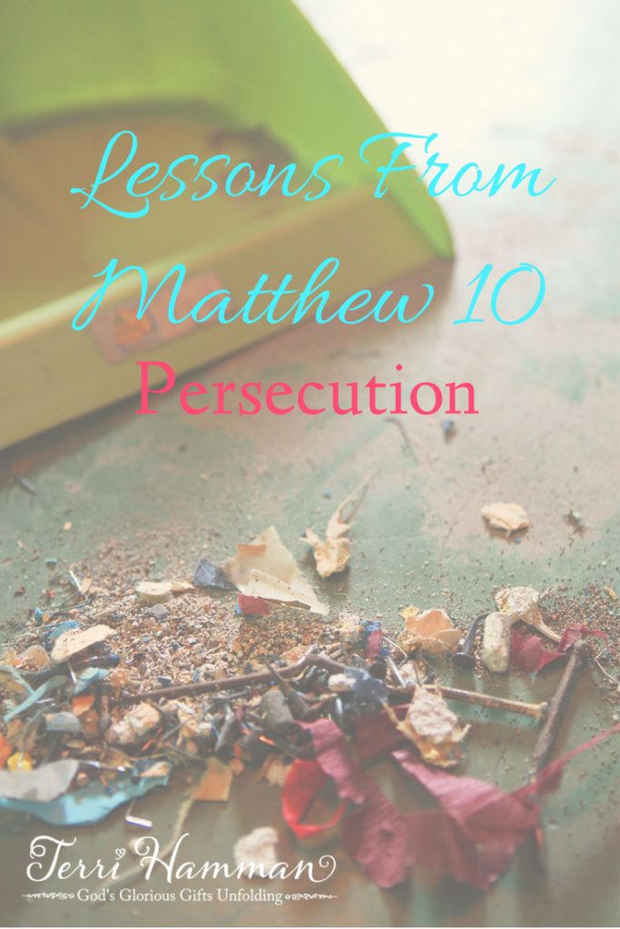 In Matthew 10 Jesus teaches us about persecution and how to treat the persecuted. Join me for bible study at TerriHamman.com