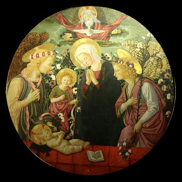 Neri di Bicci - La Vergine, San Giovanni Battista e due angeli - Musée d'art et d'histoire de Narbonne (Francia)
