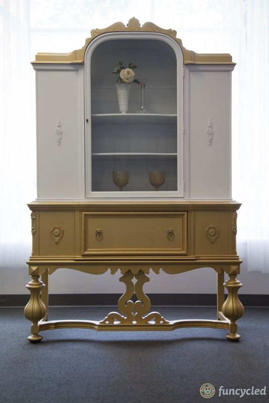 Gold Dipped Antique China Cabinet for Sale – Tuesday's Treasures