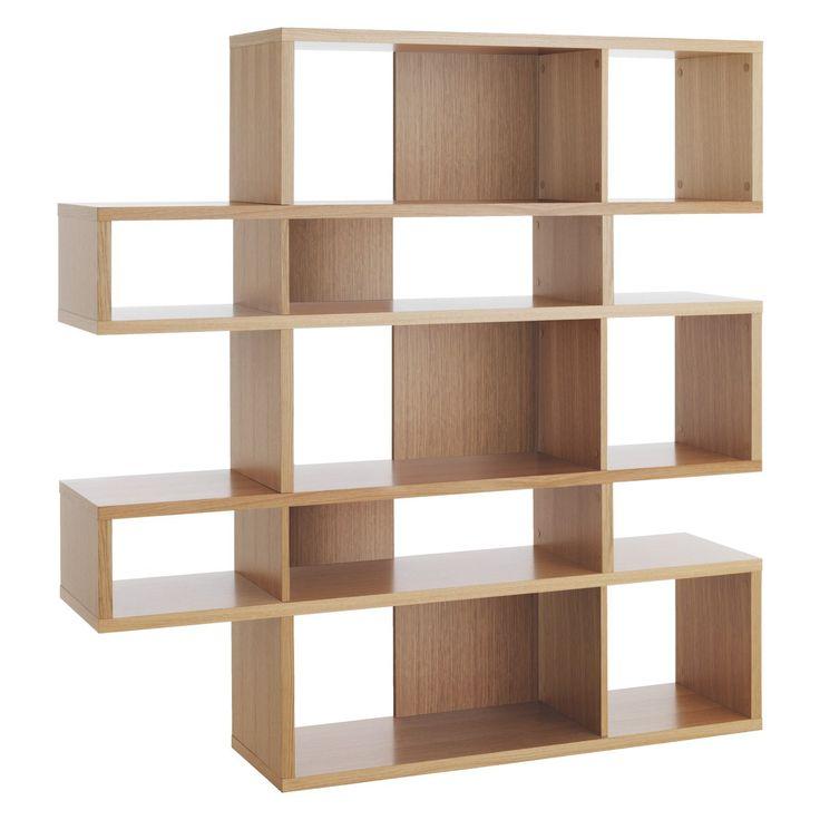 ANTONN Tall oak shelving unit // See more from digital hoarder Monsieur EZ~Beat! @  https://www.pinterest.com/MonsieurEZBeat/©