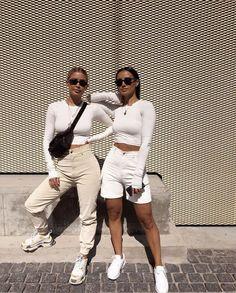 All white streetwear. Street style, street fashion, best street style, OOTD, OOT…