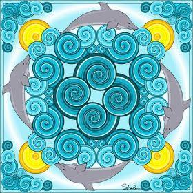 dolphin mandala  mandala dolphin coloring pages