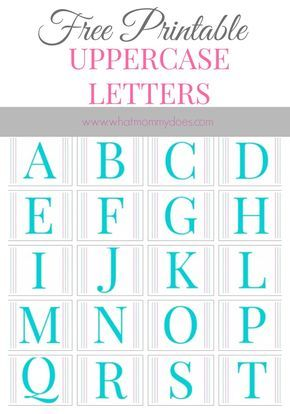 The 25 best printable alphabet letters ideas on pinterest free free printable alphabet letters a to z spiritdancerdesigns Images
