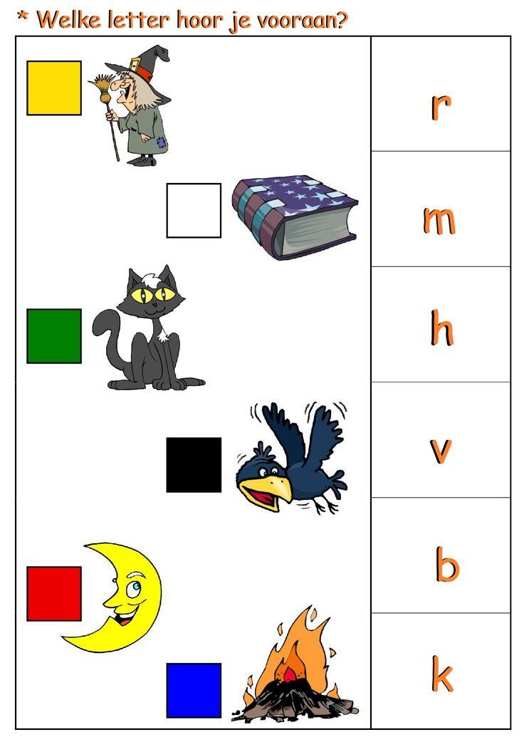 * Welke letter hoor je vooraan? 1-2