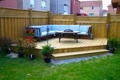 Small Backyard Deck Landscaping