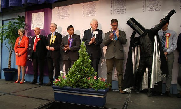 Theresa May, Lord Buckethead and other candidates in Maidenhead