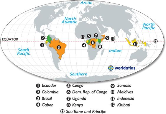 countries on the equator map aka places i want to live places