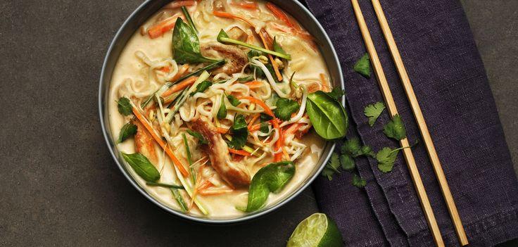 Tom Kha med kylling og grønnsaker