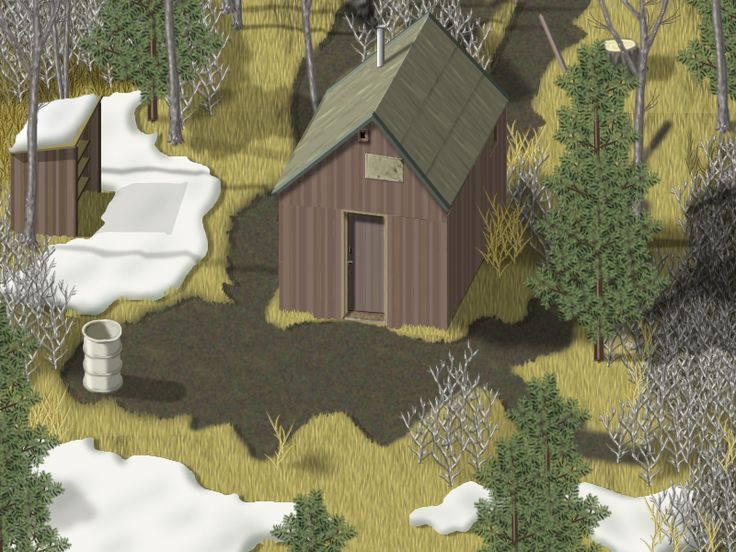 'Cabin, Early Spring' from 'Isometric Screen Shots' by Jon Haddock