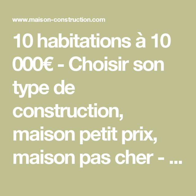 17 best ideas about prix construction maison on pinterest Type de construction de maison