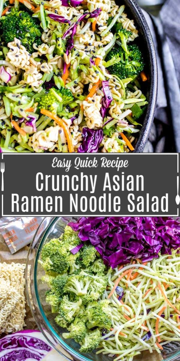 crunchy ramen noodle salad is an easy recipe for summer