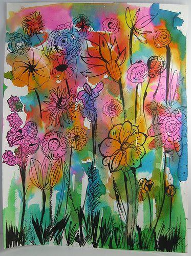 Nicole's Abstract Watercolor by nikimaki, via Flickr