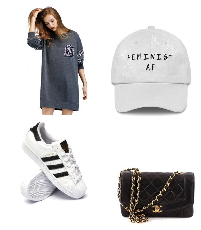 """""""Untitled #105"""" by anais-maria on Polyvore featuring adidas and Chanel"""