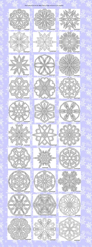 30 FREE Snowflake Ornament Patterns for the Scroll Saw from #ARPOP. full size…