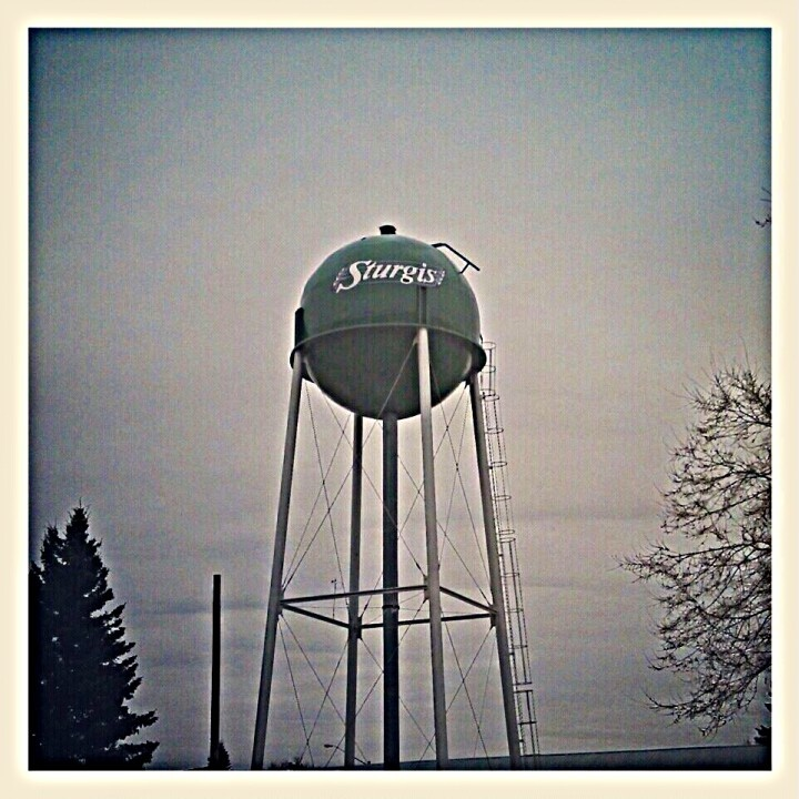 The radest water tower in all of #Saskatchewan just happens to be in #Sturgis  (Photo by mikesquier)