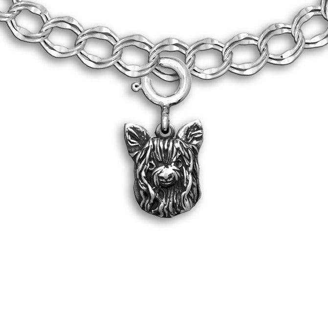 Sterling Silver #Yorkie Charm: http://www.themagiczoo.com/sterling-silver-yorkie-charm.html $39