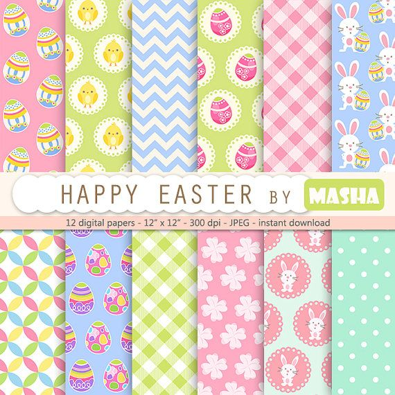 Check out this item in my Etsy shop https://www.etsy.com/listing/220207832/easter-digital-paper-happy-easter-with