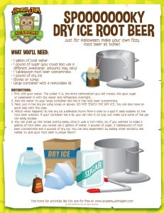 Make some spoooooky dry ice root beer with this awesome ...